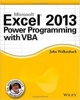 Excel 2013 Power Programming with VBA 2013